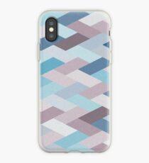 Mauve Blue Geometry VIB iPhone Case