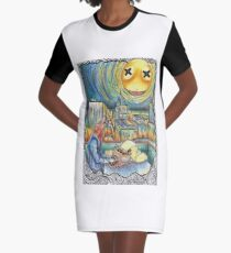 Howling Graphic T-Shirt Dress