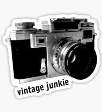 vintage junkie Sticker