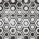 Worn hexagons by camcreativedk