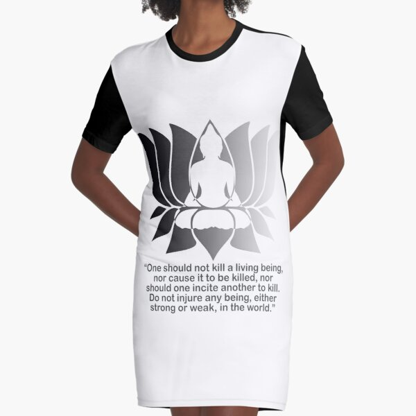 One should not kill a living being Spiritual Buddhism SWP21  Graphic T-Shirt Dress