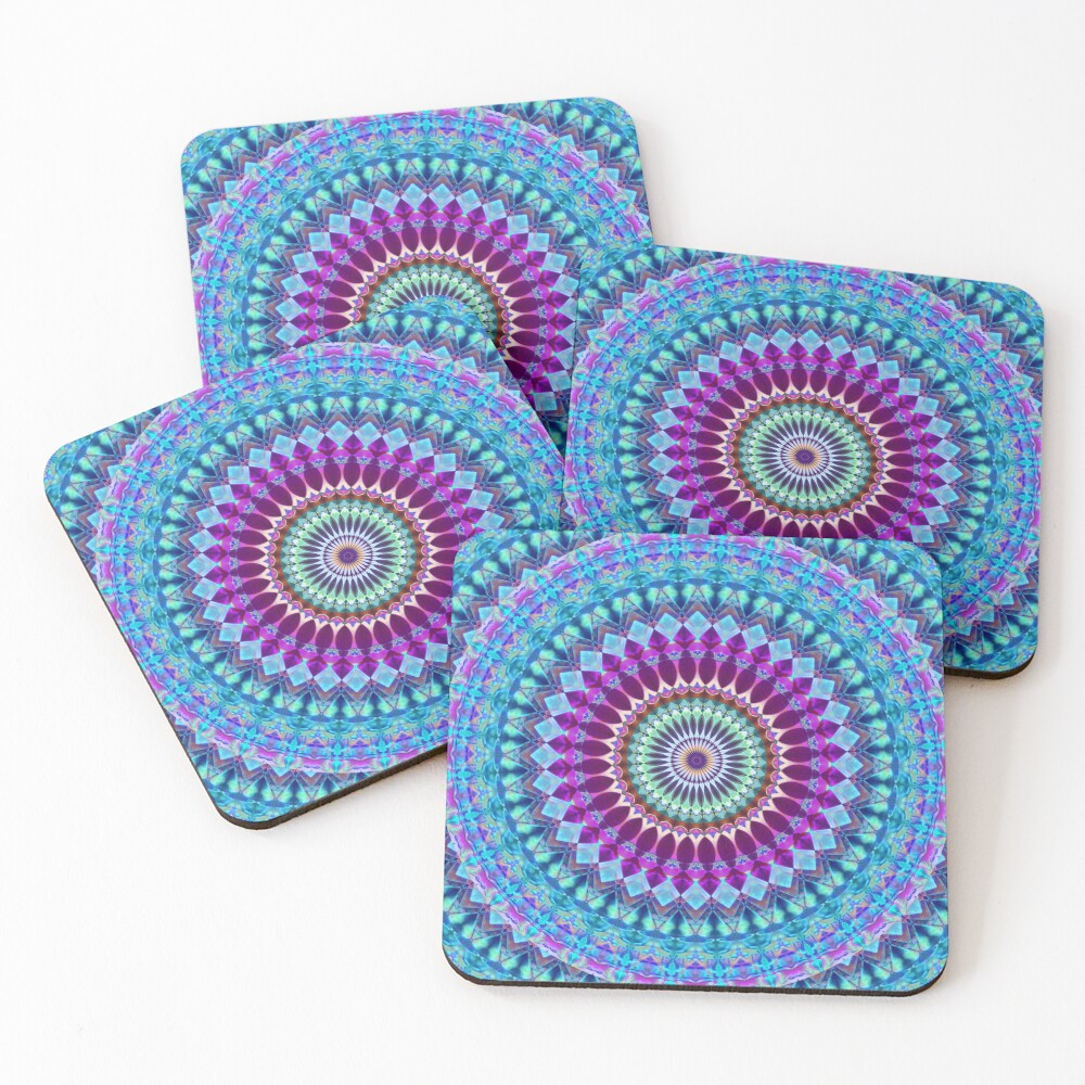 Geometric Mandala Coasters (Set of 4)