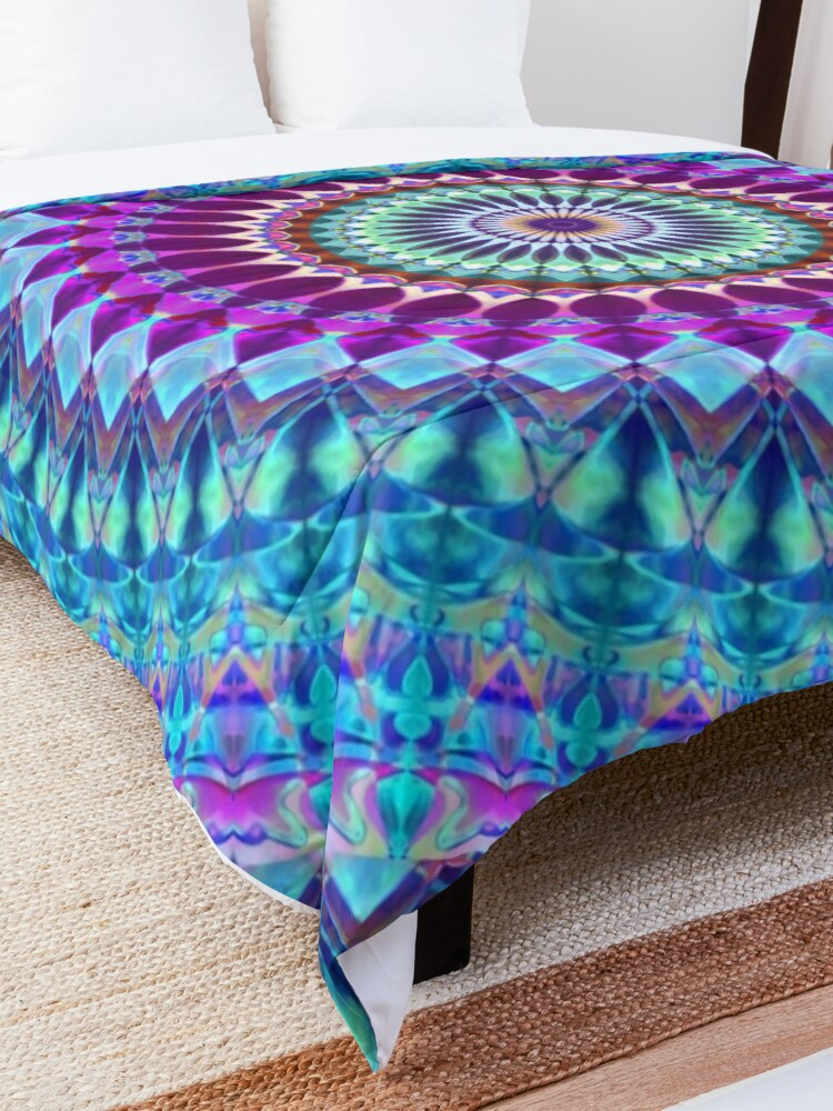 Alternate view of Geometric Mandala Comforter