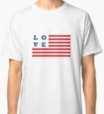 Camiseta clásica Diseño de la bandera estadounidense EE. UU. Patriótico