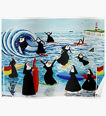 Surfing Sisters Poster