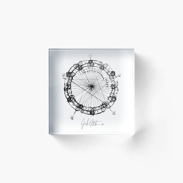 John Coltrane Chord Changes Mandala (dark design) Acrylic Block