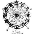John Coltrane Chord Changes Mandala (dark design) by bauwau-design