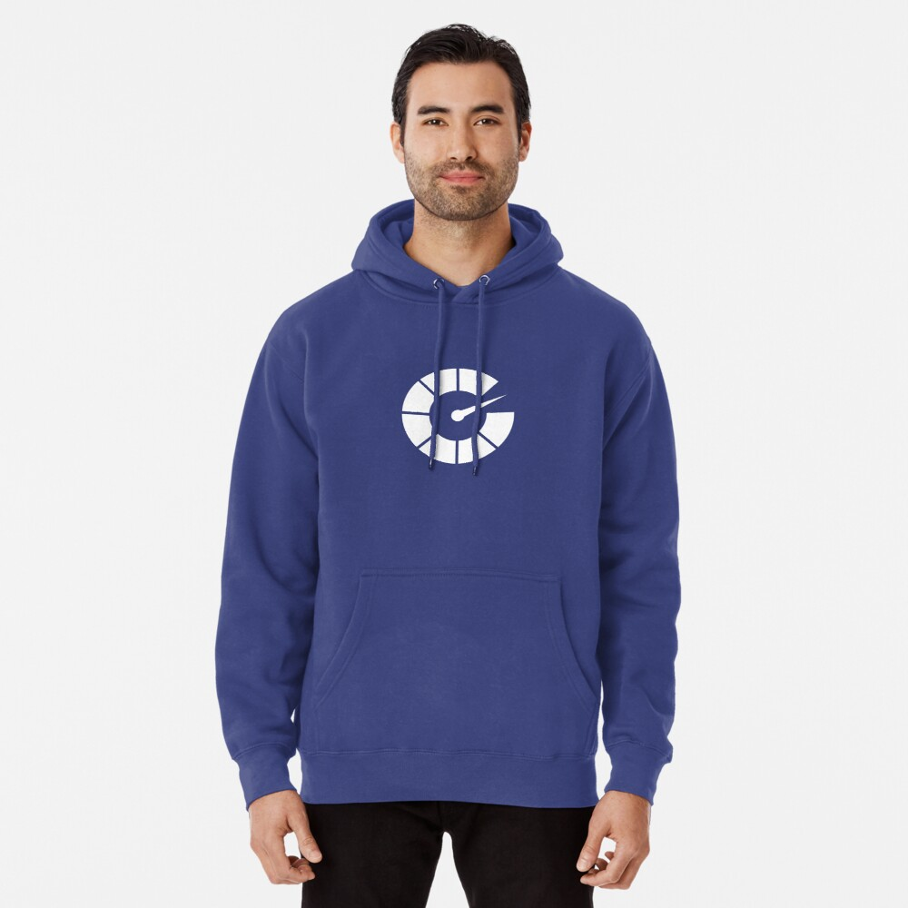 All White Autoblog Tach Logo Pullover Hoodie