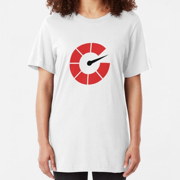 Autoblog Tachometer Logo Slim Fit T-Shirt