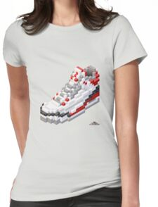 3D 8-bit basketball shoe 3 Womens Fitted T-Shirt