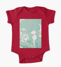 Abstract Painting Flower  One Piece - Short Sleeve