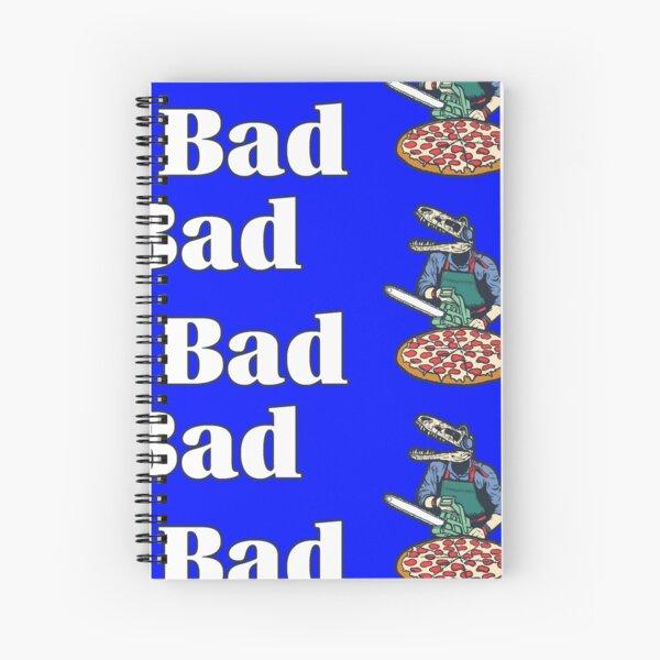 LBFB LP1 Art - White Text Spiral Notebook
