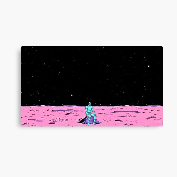 (Fixed) Dr. Manhattan sitting on mars (comic) Canvas Print