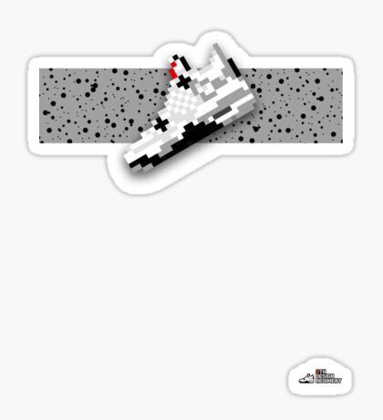 8-bit basketball shoe 4 T-shirt Sticker