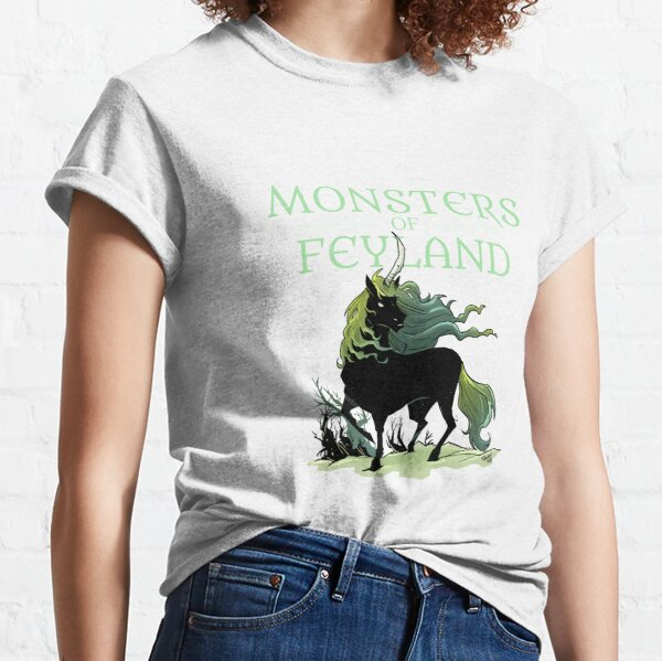 Black Unicorn from Monsters of Feyland Classic T-Shirt
