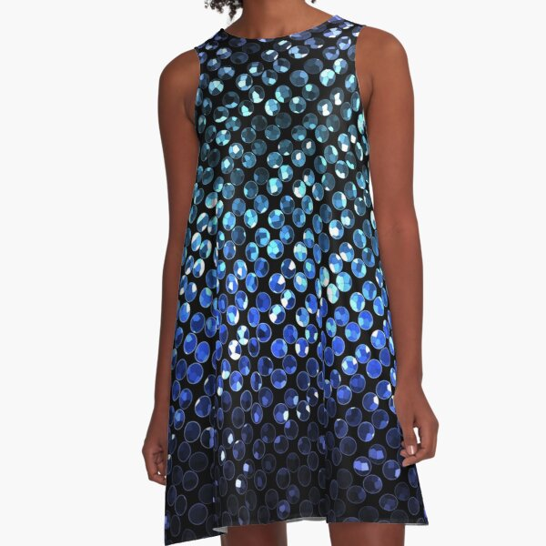 Crystal Bling Strass A-Line Dress