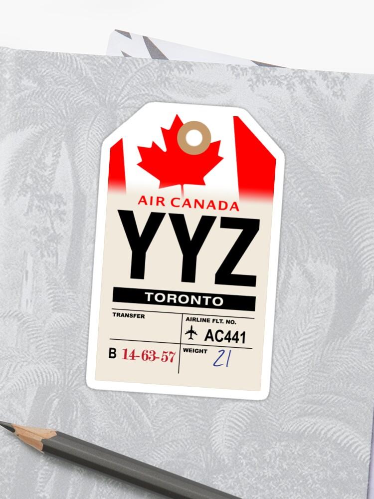 Toronto Yyz Airline Luggage Tag Sticker