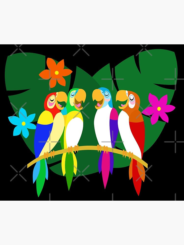 Tropical Singing Feathered Friends   by Sunshone2