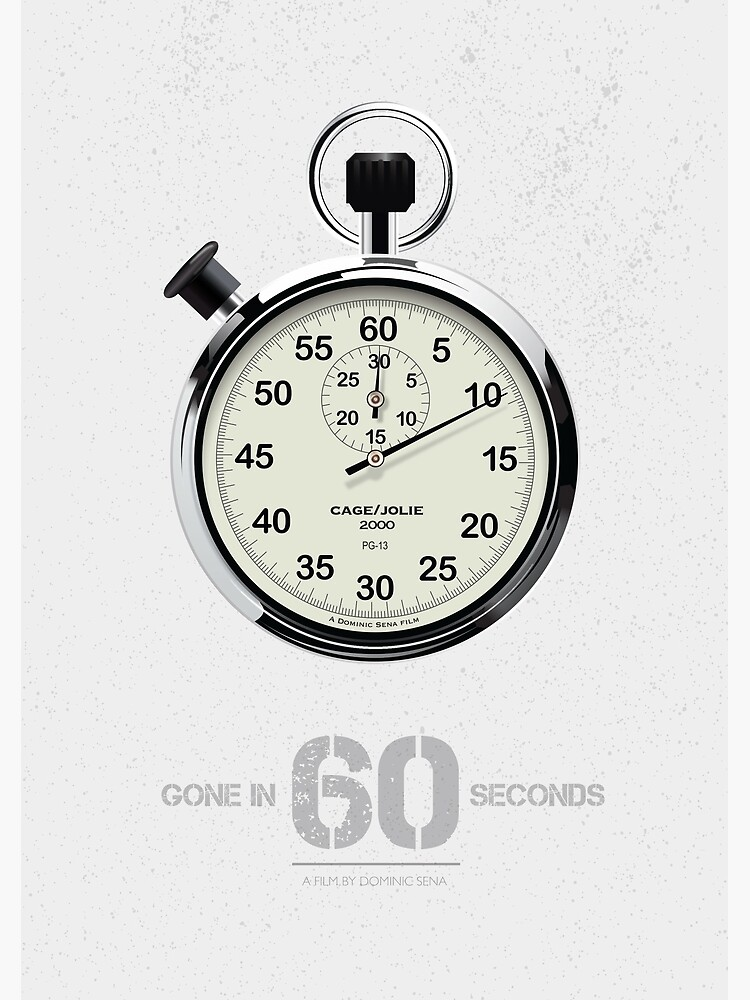 Gone In 60 Seconds - Alternative Movie Poster by MoviePosterBoy