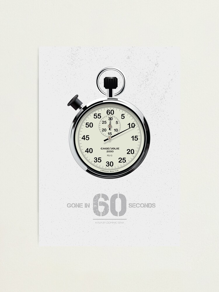 Alternate view of Gone In 60 Seconds - Alternative Movie Poster Photographic Print
