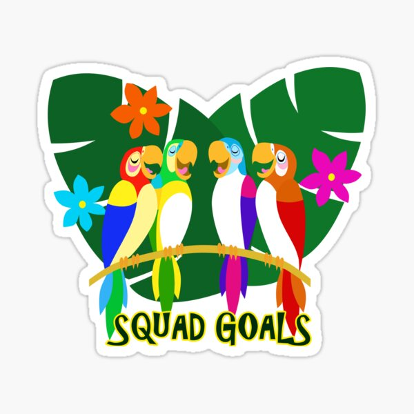 Feathered Friends Squad Goals  Sticker