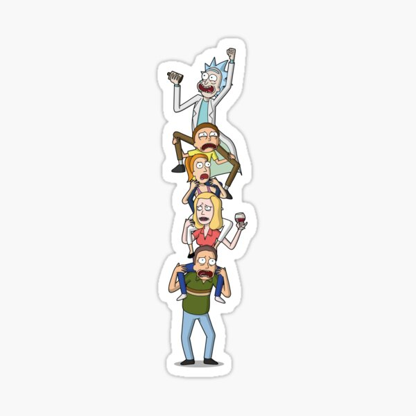 Rick and Morty Totem Sticker