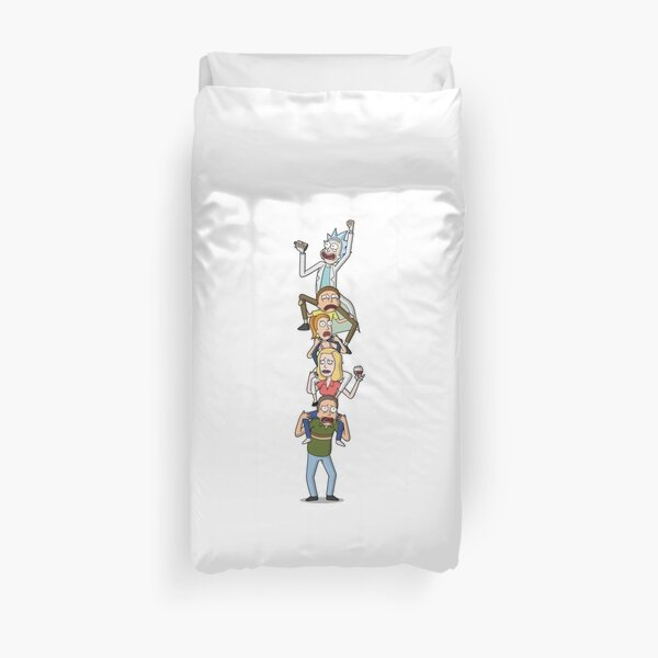 Rick and Morty Totem Duvet Cover