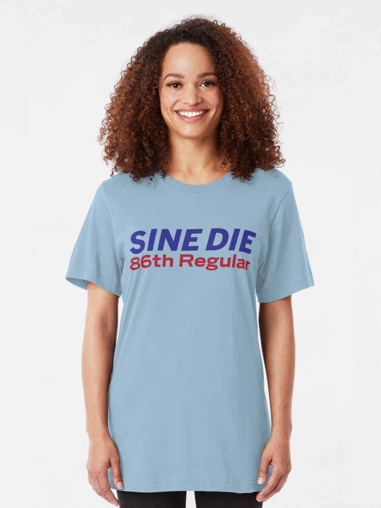 Alternate view of Sine Die - Texas Legislature - 86th Legislature Slim Fit T-Shirt