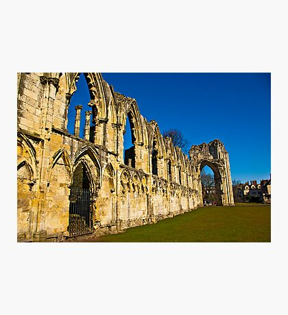 Ruins of St Mary's Abbey  -  York #3 Photographic Print