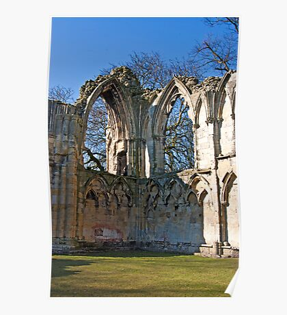 Ruins of St Mary's Abbey  -  York #5 Poster