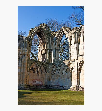 Ruins of St Mary's Abbey  -  York #5 Photographic Print