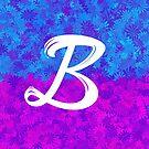 Blumenmuster-Monogrammbuchstabe B von aashiarsh