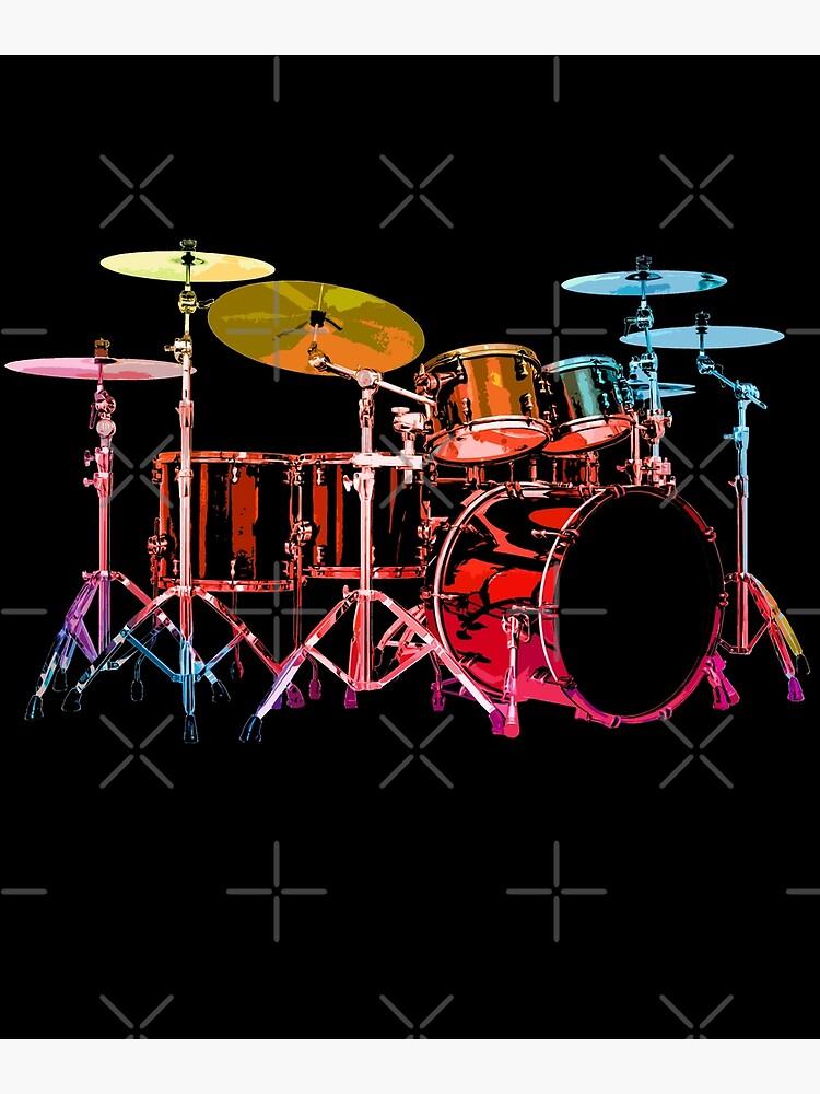 Drum Set (bold digital colors) by robotface