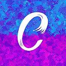 Blumenmuster-Monogrammbuchstabe C von aashiarsh