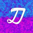Blumenmuster-Monogrammbuchstabe D von aashiarsh