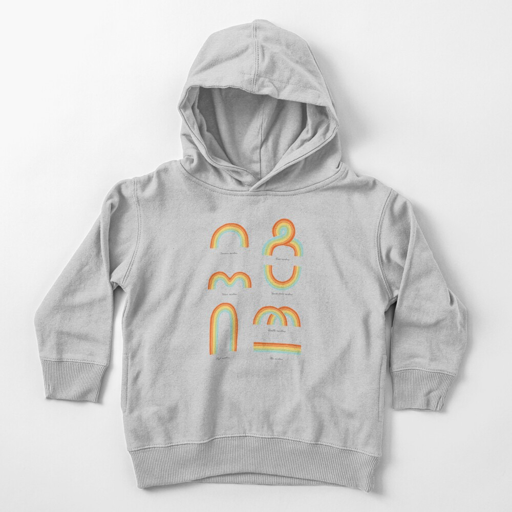 Know Your Rainbows Toddler Pullover Hoodie