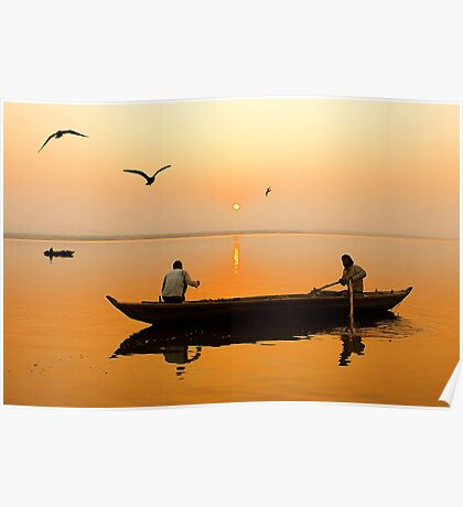 The Holy Ganga and the Morning Time. Poster