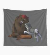 Bear Hound Wall Tapestry