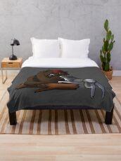Bear Hound Throw Blanket