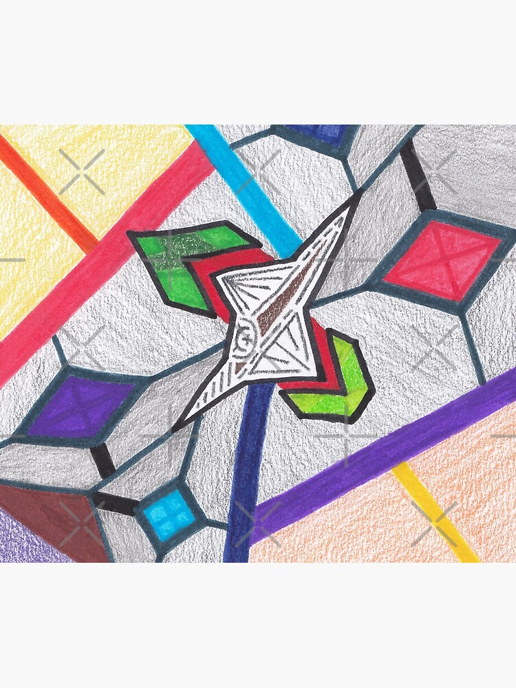 Merch #8 -- Glass Stained Abstract Pane. by Naean