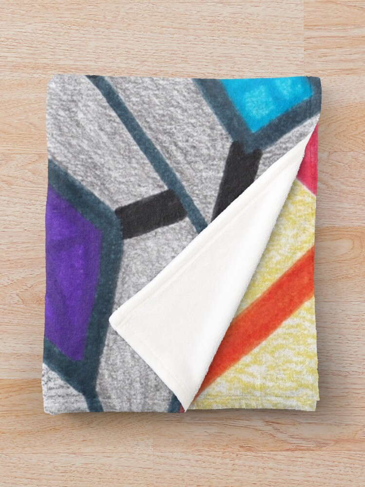 Alternate view of Merch #8 -- Glass Stained Abstract Pane. Throw Blanket