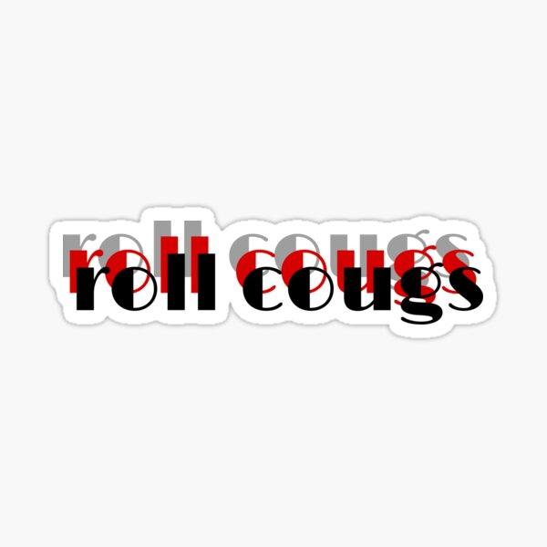 Clark University (Massachusetts) Sticker Roll Cougs Sticker