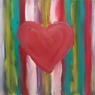 Striped Heart by Kamira Gayle