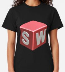 3D Cad/Cam/Cae Solid Works Designer BG Black Classic T-Shirt