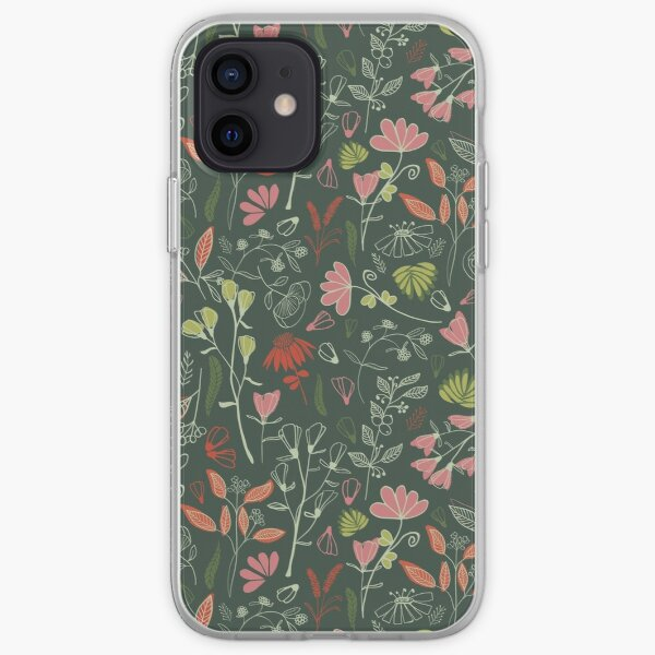 Glowy bosque forest floral pattern iPhone Soft Case