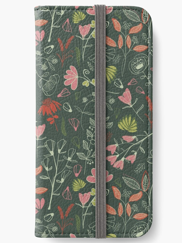 Glowy bosque forest floral pattern by Alexandra Bordallo