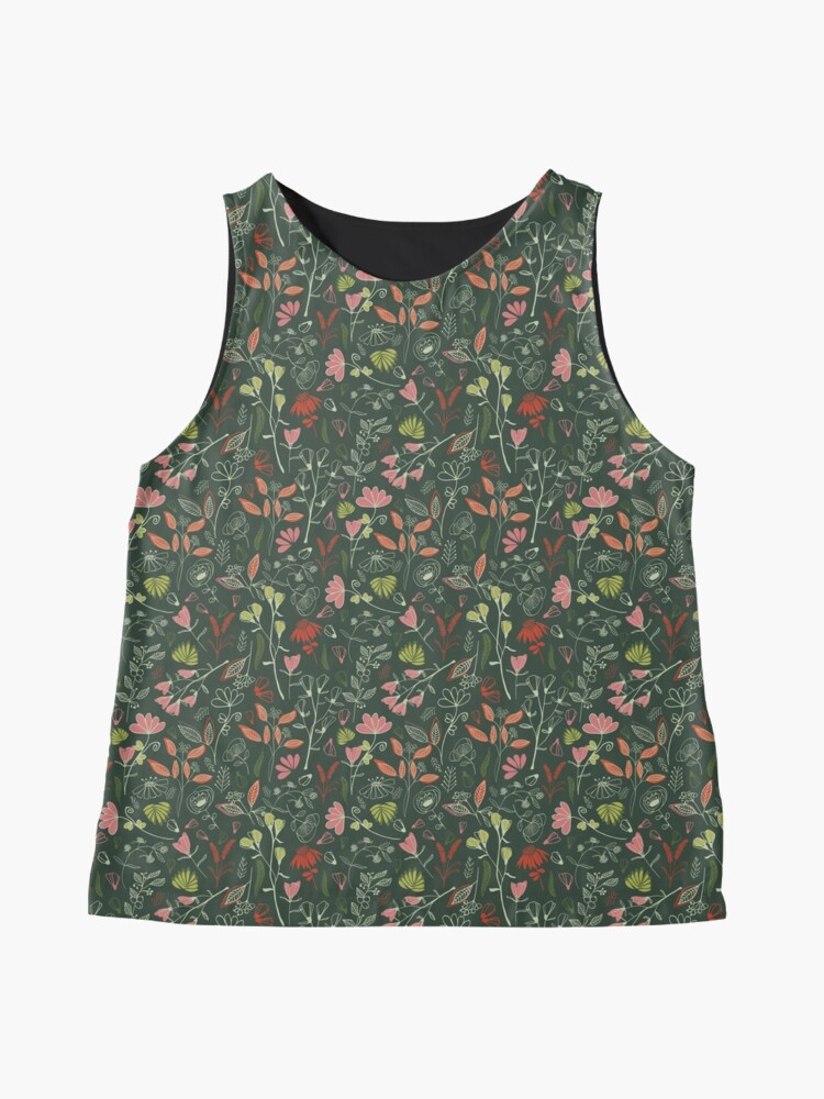 Alternate view of Glowy bosque forest floral pattern Sleeveless Top