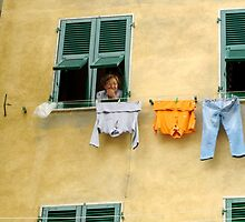 Cinque Terre Laundry Lines  by Dee2west