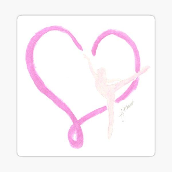 Balletic Heart Sticker