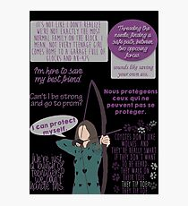 Allison Argent Quotes w/o gun Photographic Print